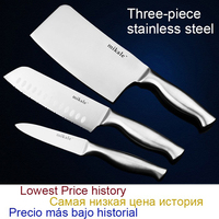 Free Shipping MIKALA High Quality Stainless Steel 3 Pcs Kitchen Set Knife Japanese Chef Knife Vegetable