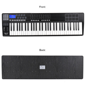 Image 2 - Wereldje Draagbare 61 Key Midi Keyboard Midi Controller 8 Rgb Kleurrijke Backlit Trigger Pads Met Usb Kabel Piano Toetsenbord synthesi