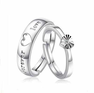 ZRHUA คุณภาพสูง Original 925 Sterling Silver แหวนผู้ชายผู้หญิงทุกวันนิ้วมือ Anel อุปกรณ์เสริมเงินสเตอร์ลิง - เครื่องประดับ anillo