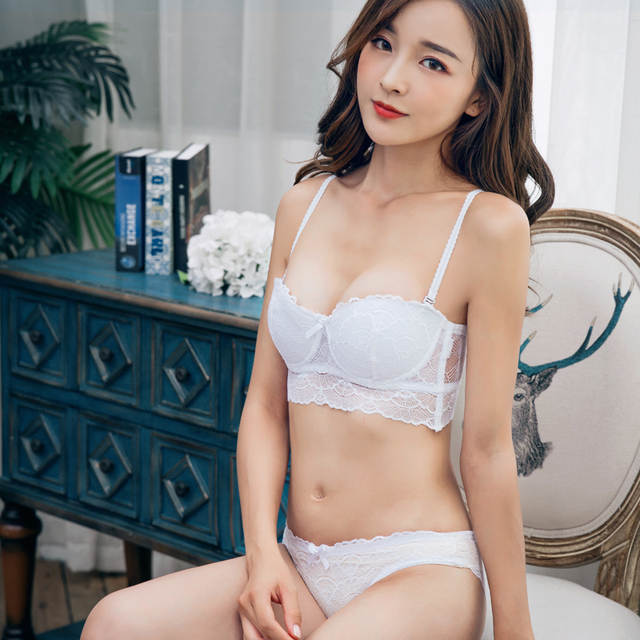eba024afd3e Online Shop MINGMO 2018 Hot Sale Bra Set Push Up Cotton Lingerie Bra  Intimates Transparent Lace Sexy Women Underwear Panties And Bra Sets