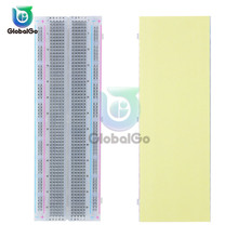 Breadboard 830 Point Solderless PCB Bread Board MB-102 MB102 Test Develop DIY for Arduino White Color Transparent Board keyes zy 55 solderless mini 55 hole bread board pcb test board set white multi colored