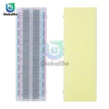 все цены на Breadboard 830 Point Solderless PCB Bread Board MB-102 MB102 Test Develop DIY for Arduino White Color Transparent Board онлайн
