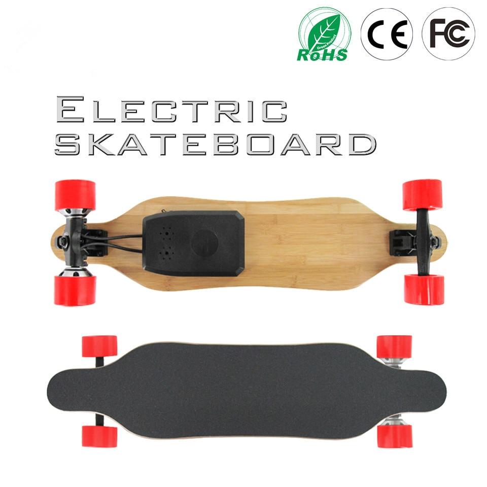 Doul Moteurs Electrico Quatre Roues Mini Longboard Planche À Roulettes Hoverboard Longue planche Scooter Conseil Samsung Batterie