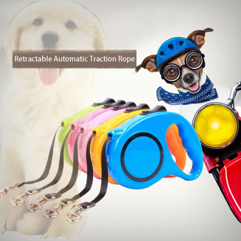 US Stock Retractable Dog Leash Puppy Walking Lead Pet Traction Rope 5M 16.5 FT
