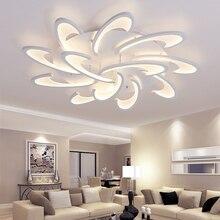 Nowoczesna Lampa Sufitowa LED Biały / Czarny