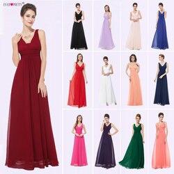 Женские вечерние платья макси Ever Pretty, черные платья с глубоким V-образным вырезом, присборенное на груди, вечерние наряды, EP08110, лето 2020