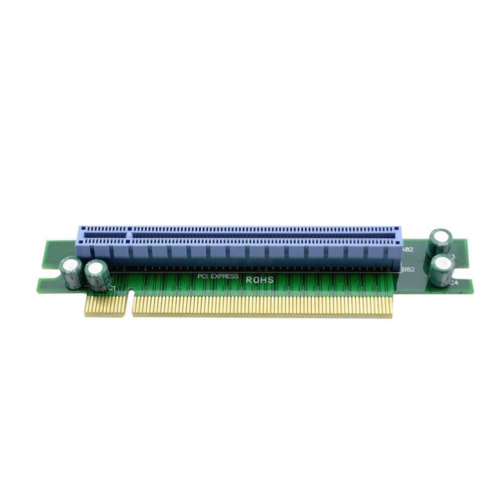 PCI-E Express 16X90 grados adaptador tarjeta elevador para chasis de servidor de ordenador 1U al por mayor