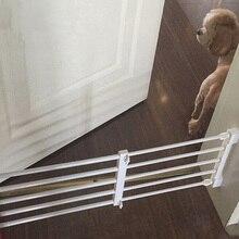 Собака двери забор Манеж для собак pet ворота крытый выдвижной Pet изоляции ворота комнаты пластиковые собака заборы детские ворота для лестницы