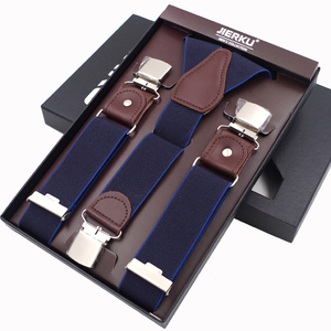 Image 4 - ใหม่ Man Suspenders 3 คลิปหนังวงเล็บลำลอง Suspensorios กางเกงสายคล้อง 3.5*120 ซม.ของขวัญสำหรับพ่อสูงคุณภาพ Tirantes