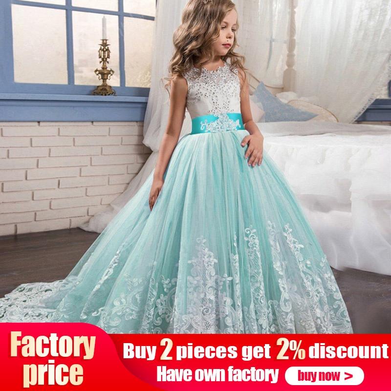 High quality   flower     girl     dress   baby evening wedding birthday   girls     dress   first communion princess costume ladies tutu   dress