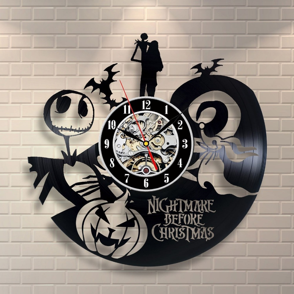 the nightmare before christmas love story wall clock decorate your home with modern large jack and sally art best gift for h in wall clocks from home