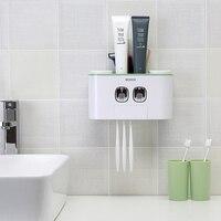Креативный автоматический комплект для зубной пасты качество Ванная комната Зубная паста Диспенсер держатель для зубных щеток чашка насте...