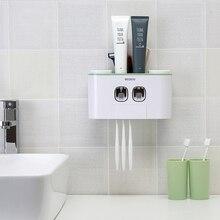 Креативный автоматический комплект для зубной пасты качество Ванная комната Зубная паста Диспенсер держатель для зубных щеток чашка настенное крепление чистящие наборы