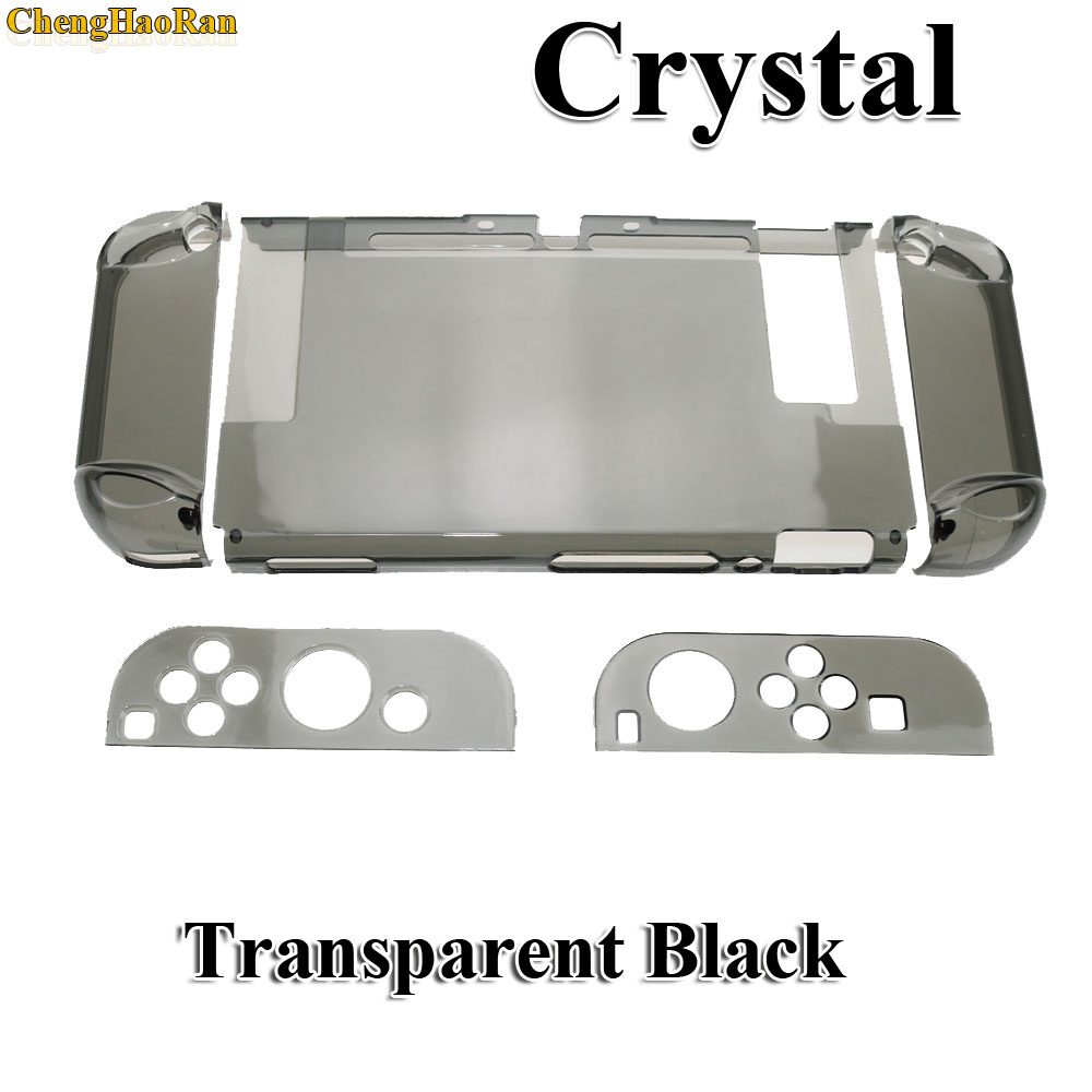 Image 1 - Hard PC Protection Cover For Nintend Switch NS NX Case Transparent Crystal Shell Console Controller Accessories With Stand Cases-in Replacement Parts & Accessories from Consumer Electronics