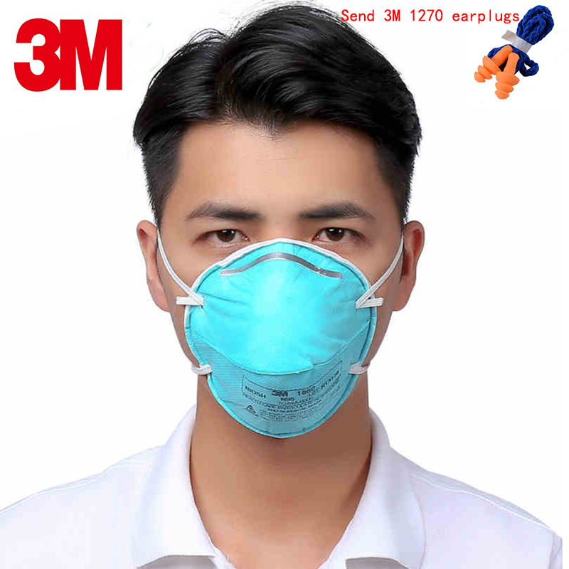 3M 1860 N95 respirator mask green Medical mask against Pathogenic microorganisms particulates Infectious pathogens filter mask bacteriocins against plant pathogens