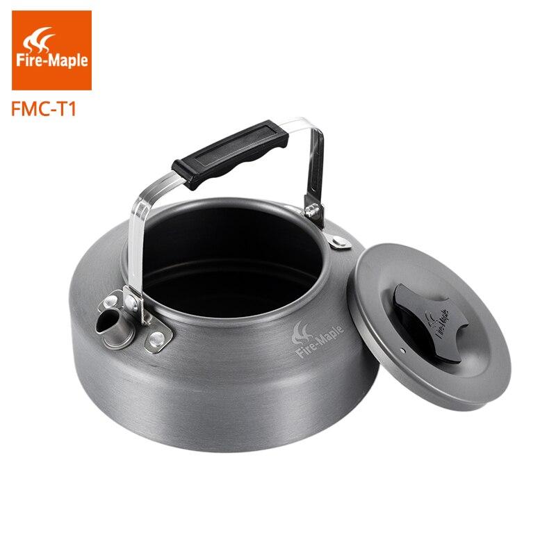 Image 3 - Ультралегкий чайник Fire Maple, уличный, для кемпинга, кофе, чая, кемпинга, туризма, алюминиевый сплав, 0,8Л, с термостойкой ручкой, чайный FMC T1fire maplehiking potcamping pot -