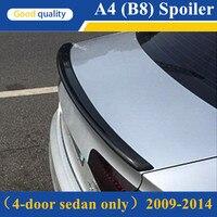 A4 B8 S4 Стиль углеродного волокна спойлер для Audi A4 B8 2009 2012 задний спойлер багажника крыло для audi a4 A4L B8 4 Двери Седан только