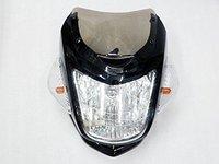 Motorcycle Black Streetfighter Nake Bike headlight Cafe Racer Custom For Ducati Suzuki Honda Yamaha Kawasaki
