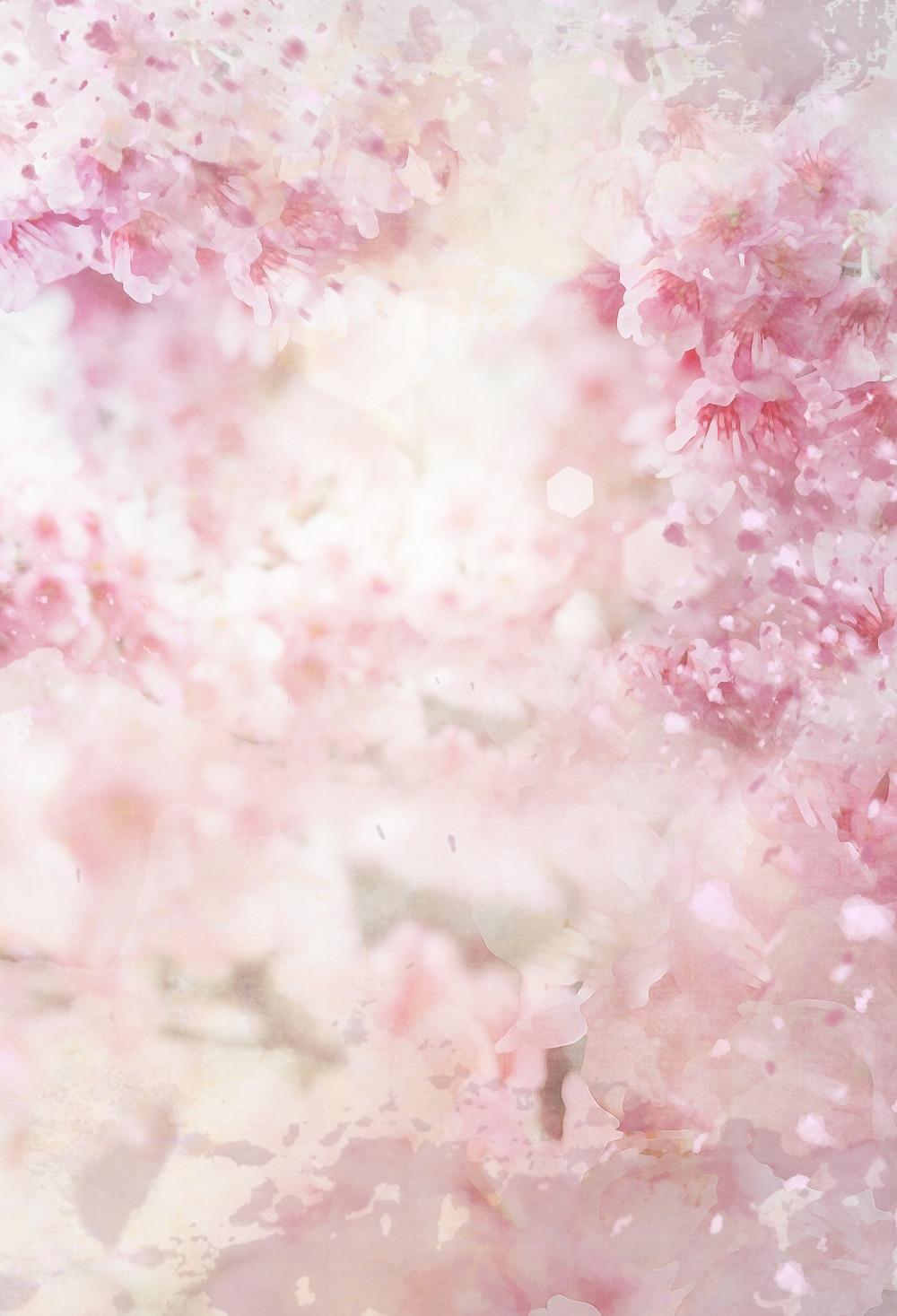 Digital Printing Pink Flowers Photo Studio Backdrop Baby Photography