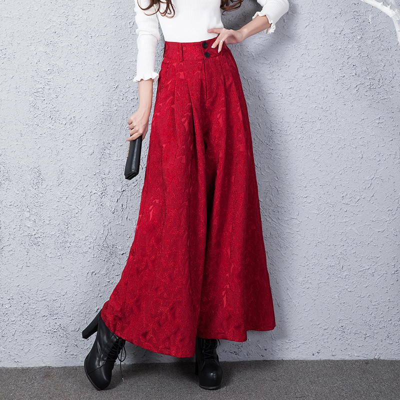 woman High waist   wide     leg     pants   New Spring and Summer Women Vintage Loose Trousers Female Casual   Wide     leg     Pants  / Flared   pants