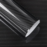 50x200cm Car Sticker Glossy Black 5D Carbon Fiber Vinyl Wrap Film DIY Car Decoration Motorcycle Truck