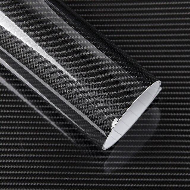 50x200cm Car Sticker Glossy Black 5d Carbon Fiber Vinyl