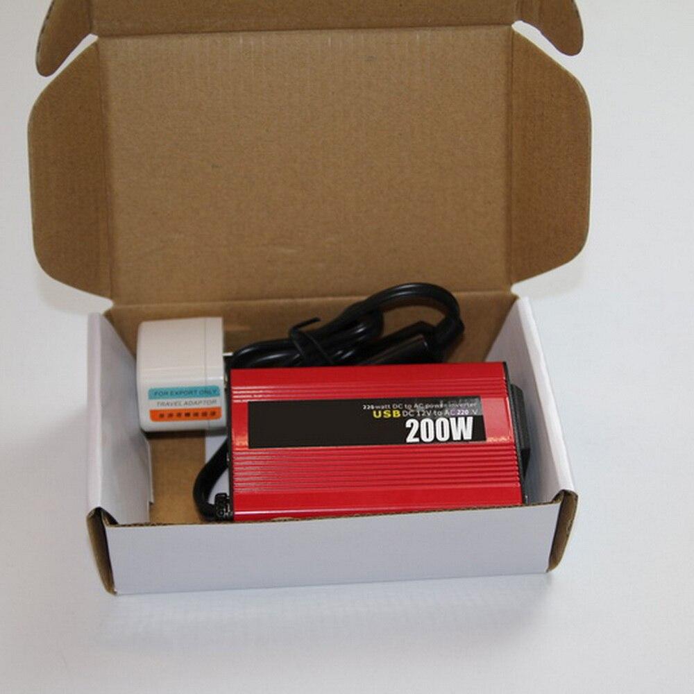 2018 ใหม่ Polarlander DC 12 V to AC 220 V Sine Wave สีแดง 50Hz รถ USB ดัดแปลง 200 W ขายร้อน