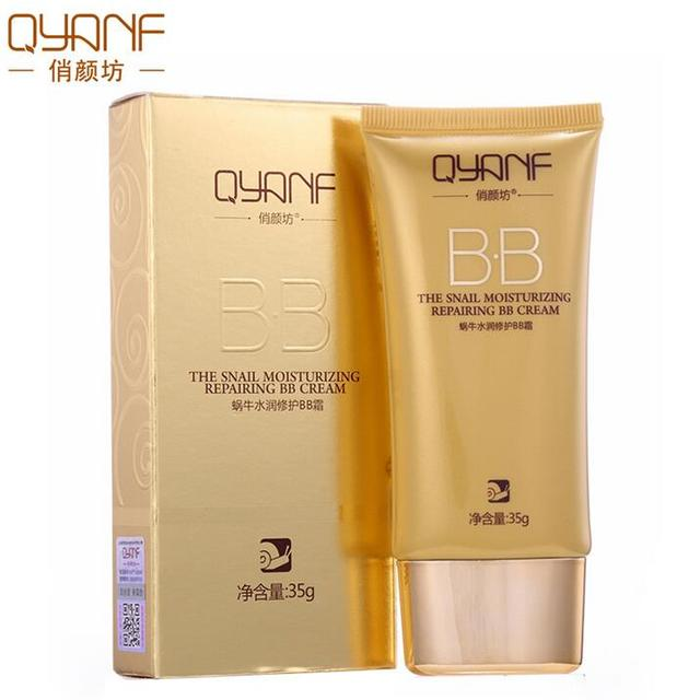 QYANF Snail BB Cream Segregation frost CC Cream Whitening Compact Foundation Concealer korean base Prevent bask in cosmetics