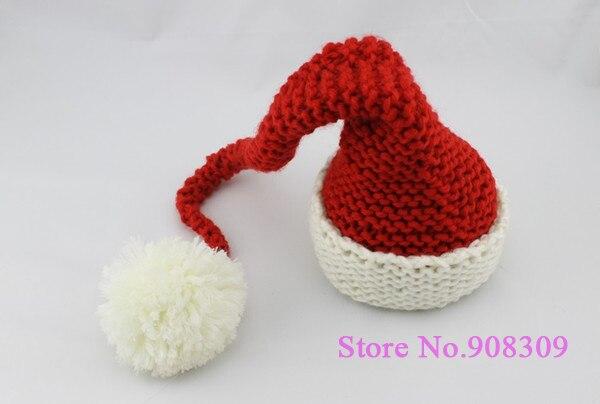 Super Cute Unisex Infant Toddler Baby Boys   Girls Santa Hat Christmas  Beanie Handmade Crochet Hat Head wear Photography Props 21d6de0c92c