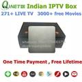 Global IPTV Box Quad Core Caja Del IPTV Indio Software de Servidor IPTV XBMC Apoyo/VOD No Suscripción