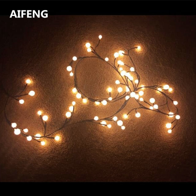 Aifeng Globe String Lights 72 Bulbs 8 Modes Plug In Decorative Fairy For Bedroom Christmas Window Backyard Wedding