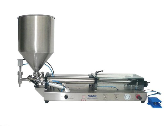 SFGG-06 pneumatic tomato sauce filling machine with hopper(M)