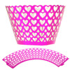 12PCS Fashion Loving Heart Shape Flat Cupcake Wrappers High Quality Fondant Cake Decorating Tools for Party