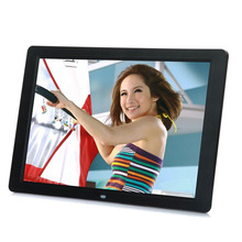 15 LED HD High Resolution Digital Picture Photo Frame with Remote Controller US EU Plug Black