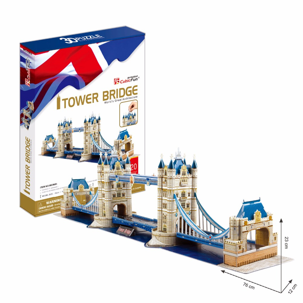 Gratis frakt 3D Wood Puzzle DIY Modell Kids Toy, World Famous Towers - Puslespill - Bilde 2