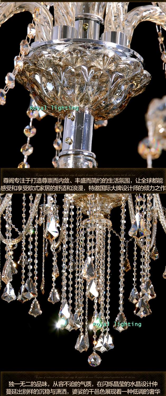 Bohemian 32-42 stk Cognac lysekrone krystalbelysning til kirke - Indendørs belysning - Foto 4
