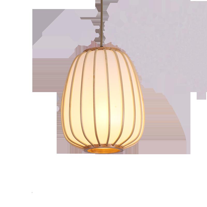 Pendelleuchten Handgemachte Bambus Lampe Wicker Rattan Welle Schatten Anhänger Licht Vintage Japanischen Lampe Suspension Home Indoor Esstisch Zimmer