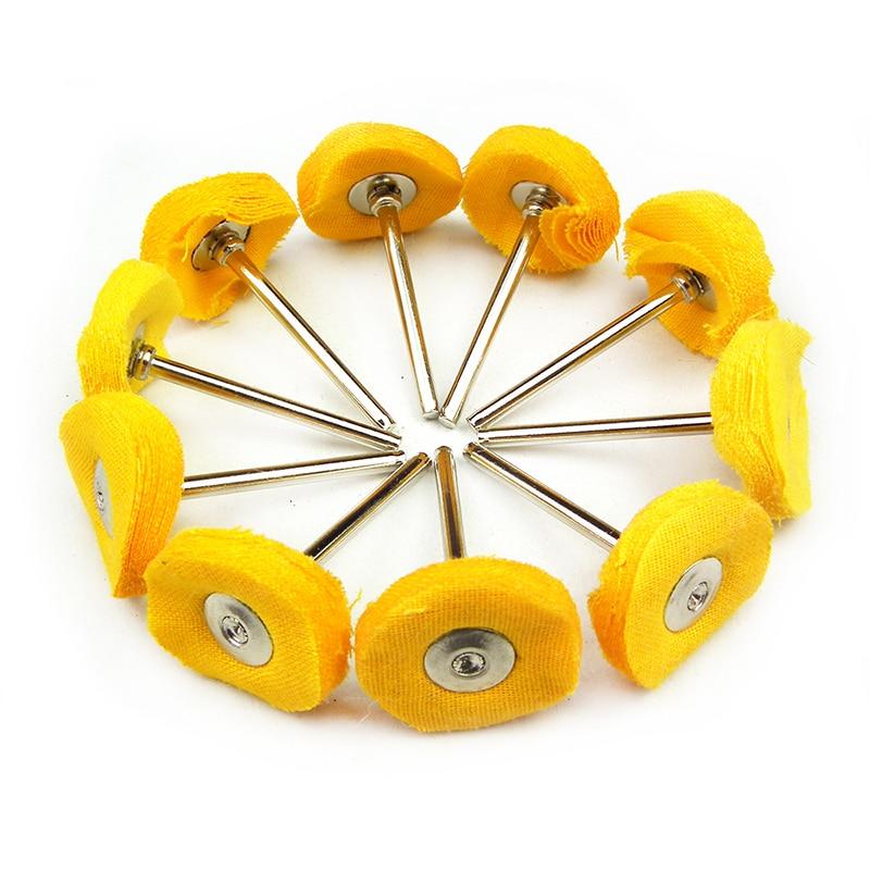 10pcs chiffon tampon de roue de polissage en coton pour accessoire - Outils abrasifs - Photo 1