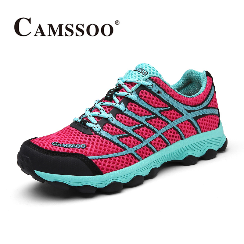 2017 Camssoo Womens Trail Running Shoes Breathable Outdoor Sports Shoes Light Weight Walking Shoes For Female Free Shipping 6075