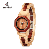 BOBO BIRD 27mm Women Watch Wood Wristwatches with Wooden Band Female Clock Lady Quartz Watch relogio feminino DROP SHIPPING