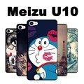 Cubierta del caso de tpu negro soft case para meizu meizu u10 u10 cubierta caso meizu u 10 cubierta de la caja de pintura