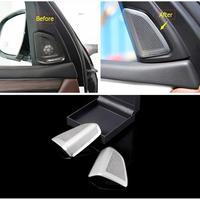 Interior For BMW X5 F15 2014 2017 / X6 F16 2015 2018 Metal A Pillar Stereo Loudspeaker Sound Speaker Audio Cover Trim 2 Pcs