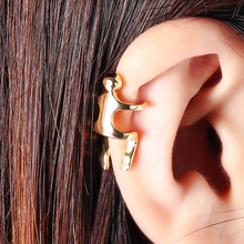 Punk Rock Ear Clip Cuff Wrap Earrings No Piercing-Clip on Silver Gold Color Figure Cuffs for Women 2019