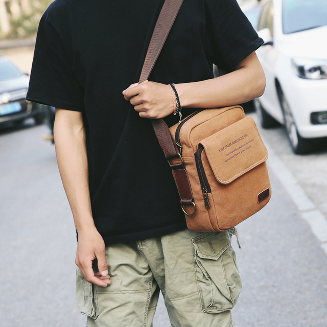 Man Urban Daily Carry Bag High Quality Men Canvas Shoulder Bag Casual Travel Men's Crossbody Bag Male Messenger Bags 3