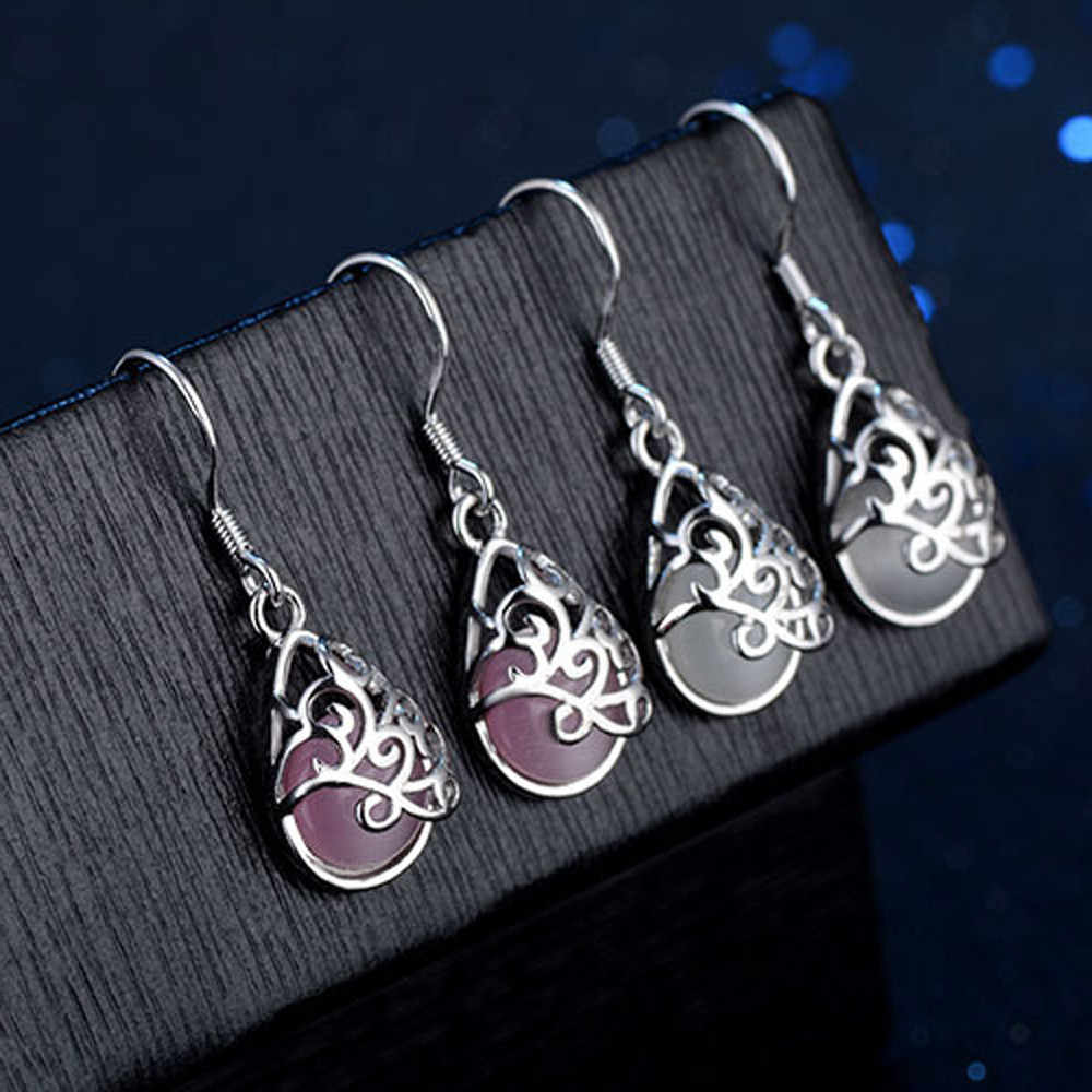 Wedding Jewelry Cat's Eye Style Fashion Love Wishing Pool Wedding Earrings For Woman 10.4
