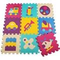Enigma do jogo do bebê engatinhando tapete puzzle de espuma criança esteiras 9 peça mat Proteção Hot vendas top ecológico puzzle mat playmat