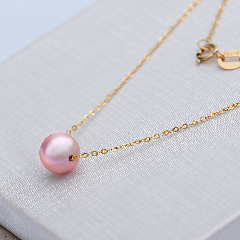 Wholesale daimi 18k pearl pendant 7 75mm real pearl choker positive feedback is very important to uss contact us before you leave neutral or negative feedback about daimi 18k pearl pendant aloadofball Image collections