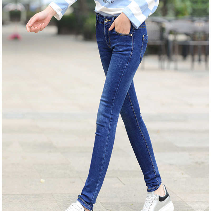 New Fashion Summer Women Pants Plus Size Sexy Stretch Skinny High Waist Jeans Pants 2017 Women Pencil Casual Slim denim Pants inc international concepts plus size new charcoal pull on skinny pants 14wp $59
