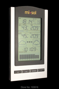 Image 1 - محطة الطقس اللاسلكية ، ترمومتر لاسلكي مع درجة الحرارة في الهواء الطلق والرطوبة الاستشعار شاشة الكريستال السائل ، مقياس الضغط