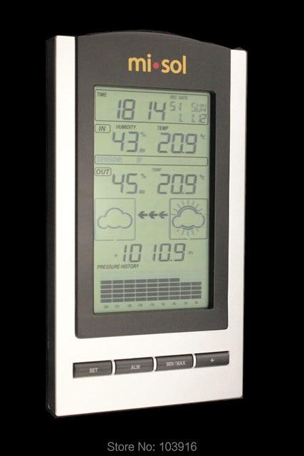 محطة الطقس اللاسلكية ، ترمومتر لاسلكي مع درجة الحرارة في الهواء الطلق والرطوبة الاستشعار شاشة الكريستال السائل ، مقياس الضغط